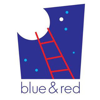 blue & red